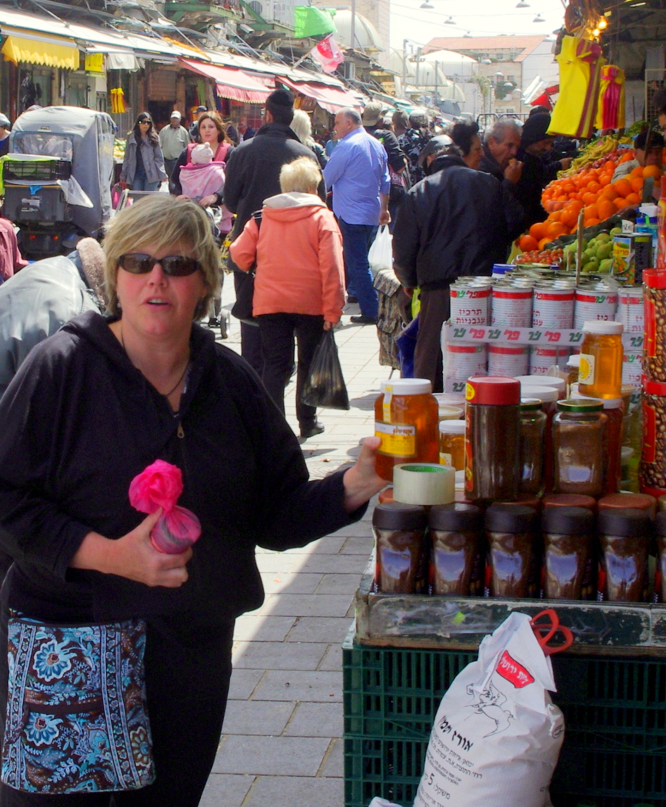 In pursiuit of honey in Isreal, market in Jerusalem
